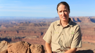 Megan Blackwelder, Park Manager at Dead Horse Point State Park near Moab, Utah, talks about her parks unique relationship with the Colorado River and a nearby potash mine.