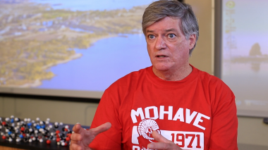 Paul Haberstroh, a professor at Mohave Community College's Lake Havasu City Campus, speaks about Lake Havasu and the potential for local student involvement in a variety of monitoring and science-based studies on the lake.